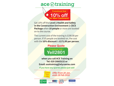 ACE Training – Promotional Deal for New Customers.