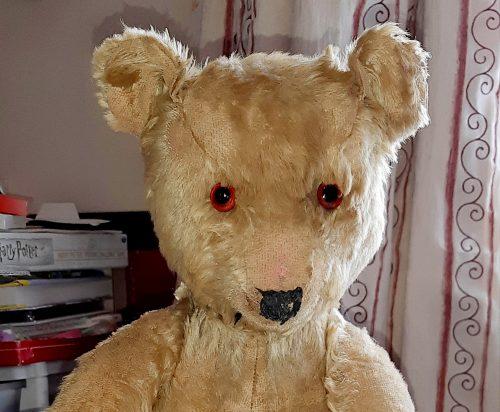 Teddy Bear repaired by Repair Cafe.