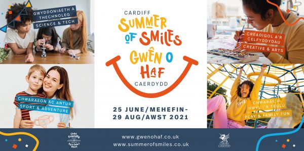 Cardiff City Council's Summer of Smiles - social media banner